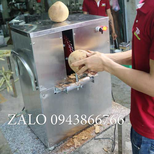Coconut shell peeling machine